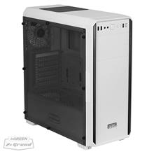 Green Z+ Grand White Mid-Tower Case